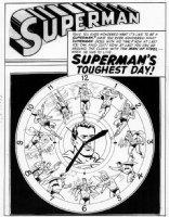 PLASTINO, AL & STAN KAYE - Action Comics #282 2-up pg 1 splash, with 13 Supes ! Comic Art