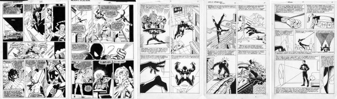Black Spiderman pages - Amazing Spider-Man #285 & Web of Spiderman Annual #3 Ditko homage pages Comic Art