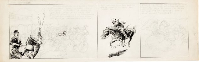 CRANDALL, REED - Sooners daily tryout - on horseback 1959-1960  Comic Art