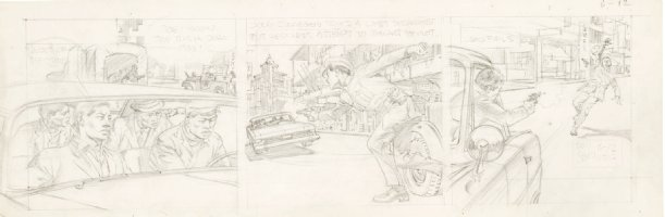 CRANDALL, REED - Hong Kong daily pencil art tryout, Commie plot succeeds 6/12 1959-1960  Comic Art