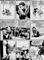 CRANDALL, REED - Military Comics #?, Black Hawks 2up pg 14, BlackHawk kisses Chinese Woman - 1942 Comic Art