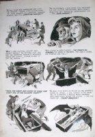 CRANDALL, REED - Creepy #8 pg 9, ink & wash - Dracula staked Comic Art