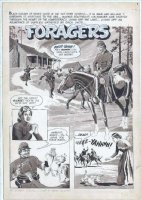 CRANDALL, REED - Blazing Combat #3 Warren Mag. Splash  Foragers  - Civil War 1966 Comic Art