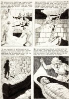 CRANDALL, REED - Eerie #5 pg 3, Mummy stalks Comic Art