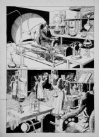 CRANDALL, REED - Warren Mag. Time Machine, maid page Comic Art