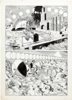 CRANDALL, REED - Warren Time Machine pg 2, travelings in machine  Comic Art