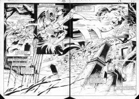 BRODERICK, PAT - Detective Comics #552 double spread pages 13-14, Batman Comic Art