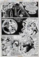 GULACY, PAUL - Master Kung Fu (final Gulacy issue!) #50 pg 27, Shang Chi, Fu Manchu dies 1974 Comic Art