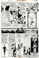 GULACY, PAUL - Master of Kung Fu #34 last pg, Shang-Chi, Clive Reston leiko trapped by Mordillo & robot Brynocki Comic Art