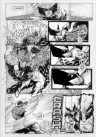 KIETH, SAM - Marvel Comics Presents #86, complete 8 page story- pg 6, Wolverine attacked by Cyber Comic Art