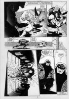 KIETH, SAM - Marvel Comics Presents #86, complete 8 page story- pg 8, large images of Wolverine fleeing Cyber Comic Art