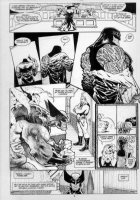KIETH, SAM - Marvel Comics Presents #86, complete 8 page story- pg 5, large Wolverine & Cyber uncovered Comic Art