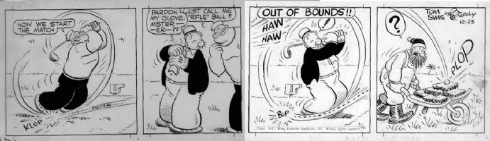 ZABOLY, BILL - Popeye daily 12/23 1947 Comic Art