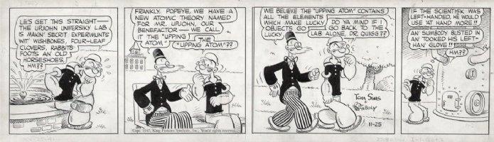 ZABOLY, BILL- Popeye daily 11/25 1947 - Upping Atom Comic Art