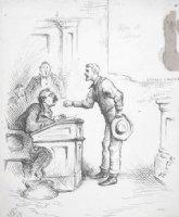 NAST, THOMAS - political cartoon, Speaker of the House,  John Griffin Carlisle, circa 1883-1892 Comic Art