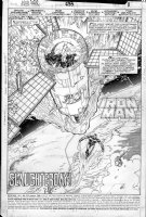 LAYTON, BOB / BUTCH GUICE - Iron Man 233 pg 1 splash battle Comic Art