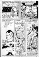 LAYTON, BOB / BUTCH GUICE - Iron Man 237 pg 24 battle-damaged Iron Man Comic Art