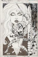 LAYTON, BOB - Red Sonja Marvel Comics Super Special #38 pg 48 full figure pinup of  Comic Art