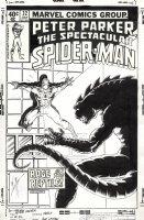 LAYTON, BOB - Peter Parker, Spectacular Spider-Man #32 cover, Spidey vs Lizard 1979 Comic Art