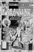 LAYTON, BOB - Iron Man #125 Cover, Iron Man / Stark,  vs 3rd Ant-Man / Scott Lang & 1st Jim Rhodes cover Comic Art