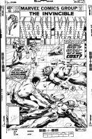 LAYTON, BOB - Iron Man #133 alternate Cover, IM vs Hulk + 4th Ant-Man / Scott Lang & Jim Rhodes Comic Art