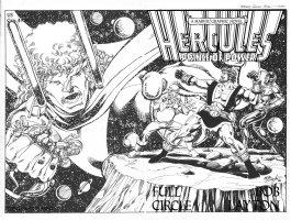 LAYTON, BOB - Hercules  Full Circle  Graphic Novel, original Wraoaround cover, new story 1988 Comic Art