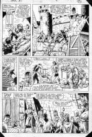 LAYTON, BOB / DON PERLIN layouts - What If? #33 page 14 Iron Man in King Arthur's Camelot Comic Art