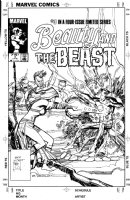 SIENKIEWICZ, BILL - Beauty and the Beast #3 cover, Dazzler attacks the X-Men's Beast Comic Art