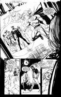 SIENKIEWICZ, BILL - JSA 80-Page Giant 2010 #1 splashy pg 9, large shot - JSA team Comic Art