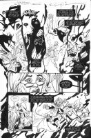 SIENKIEWICZ, BILL - JSA 80-Page Giant 2010 #1 pg 6, Star Spangled Kid-Courtney, Green Lantern, Mordru; Eclipso Comic Art