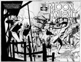 SIENKIEWICZ, BILL - Moon Knight #18 double cover Comic Art