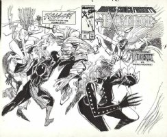 SIENKIEWICZ, BILL - Marvel Comic Presents #36 wraparound cover, Dark Phoenix vs Phoenix of X-Men Comic Art