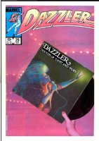 SIENKIEWICZ, BILL - Dazzler #29, very large painted cover w/ Elliot Brown photo background Comic Art
