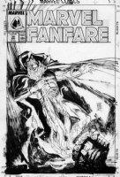 SIENKIEWICZ, BILL - Marvel Fanfare #38 cover, Moon Knight special Comic Art