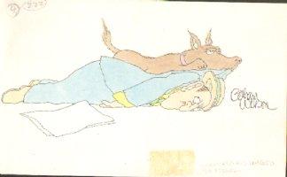 WILSON, GAHAN - National Lampoon color illo Comic Art