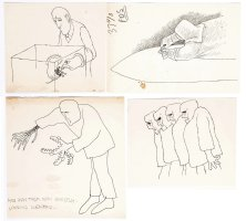 WILSON, GAHAN - Mad Scientist & Monsters magazine illustrations 1970 Comic Art