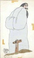 WILSON, GAHAN - Magazine / Lampoon color illo - Jesus on cross, back to God Comic Art