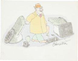 WILSON, GAHAN - Color Cartoon - Playboy? Sewer Animals  Comic Art