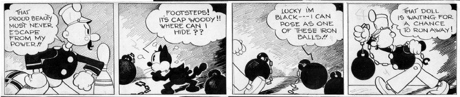 MESSMER, OTTO - Felix Cat daily, Felix vs Toy Soldier -  5/2 1935? Comic Art