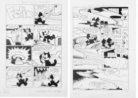 MESSMER, OTTO - Felix the Cat #42 2-up 8 pg story, Felix Kittens - Toys & rocket ship Comic Art