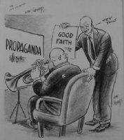 GOLDBERG, RUBE - political cartoon  Good Faith  Comic Art