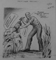 GOLDBERG, RUBE - political cartoon  Must Keep Trying  Comic Art