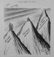 GOLDBERG, RUBE - political cartoon  Long way to Go  Comic Art