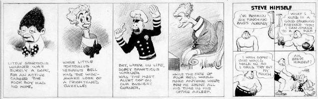 Goldberg, Rube - A Sad, Sad Story / Steve himself boxing - double daily, classic close-ups 1920s Comic Art