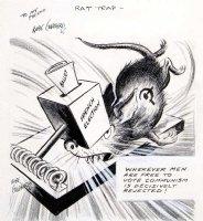 GOLDBERG, RUBE - political cartoon  Rat Trap   Comic Art