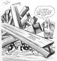 GOLDBERG, RUBE - political cartoon  Comic Art