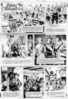 FOSTER, HAL layouts / JOHN CULLEN MURPHY - Prince Valiant Sunday #1865 11/5 1972 Prince Valiant preps ship & parties with nobles Comic Art