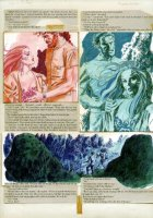 Gray Morrow - The Illustrated Roger Zelazny- Rose story, girl with rocks page- 1978 Comic Art