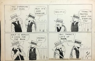 DORGAN, TAD - Silk Hat Harry Sunday 1926, Golf is not just for rich players! Comic Art