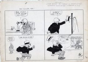 DORGAN, TAD - Judge Rummy 1919 daily cartoon, dry drink theme, cop bust the  good stuff  Comic Art